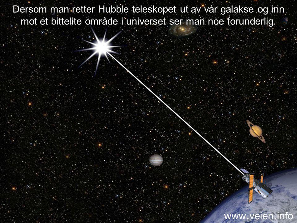 I dag har mennesket flere rom-teleskoper som svever i bane over Jorda. Et av dem er Hubble teleskopet.
