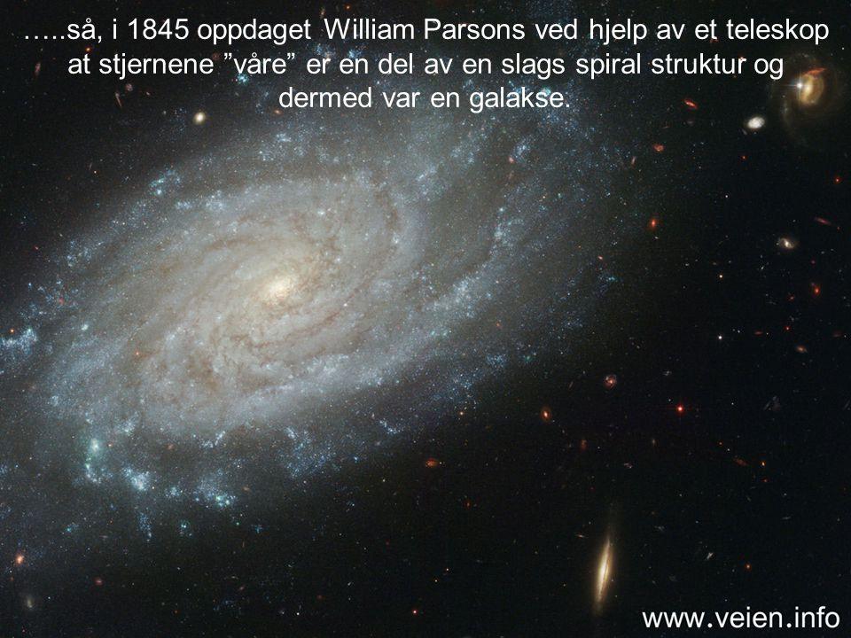 Helt til begynnelsen av forrige århundre trodde astronomene at Melkeveien utgjorde hele universet, fordi den var så enormt stor og inneholdt så ufatte