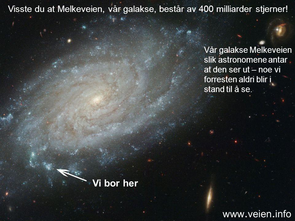 Dette har fått astronomer til å regne ut at der må finnes minst 1.000 milliarder galakser i vårt univers.