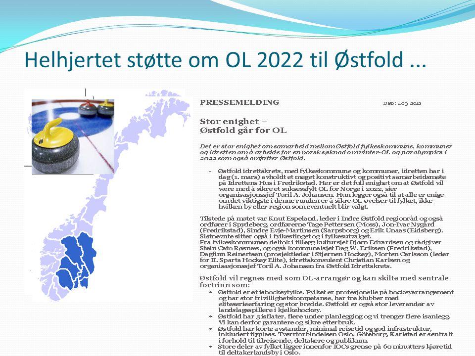 Helhjertet støtte om OL 2022 til Østfold...