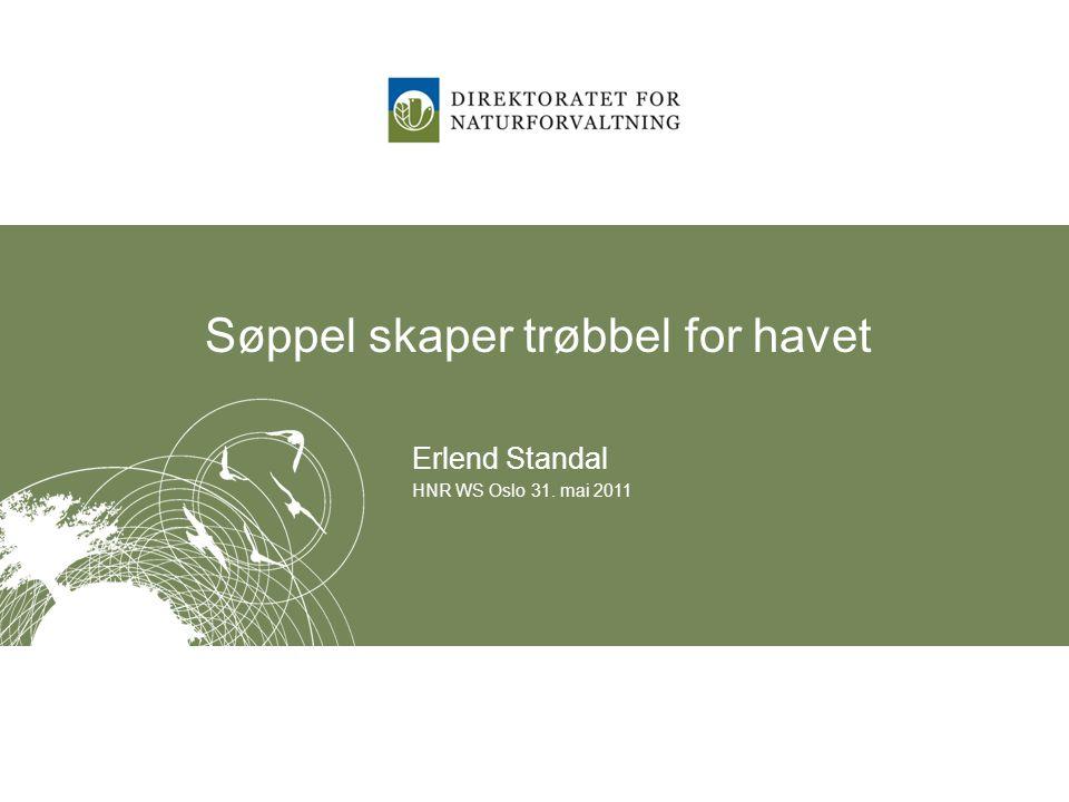 Søppel skaper trøbbel for havet Erlend Standal HNR WS Oslo 31. mai 2011