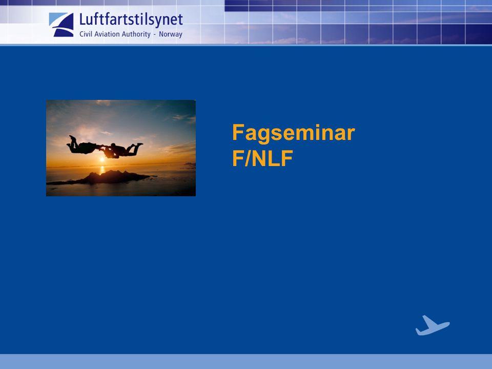 Agenda  Status Fallskjermfly  Demo, ny oppvisningsforskrift  Tilsyn  Hopping fra paraglider  Hopping fra helikopter med BASE utstyr