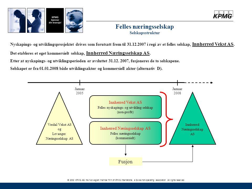 © 2002 KPMG AS, the Norwegian member firm of KPMG International, a Swiss non-operating association. All rights reserved. Januar 2005 Januar 2008 Verda