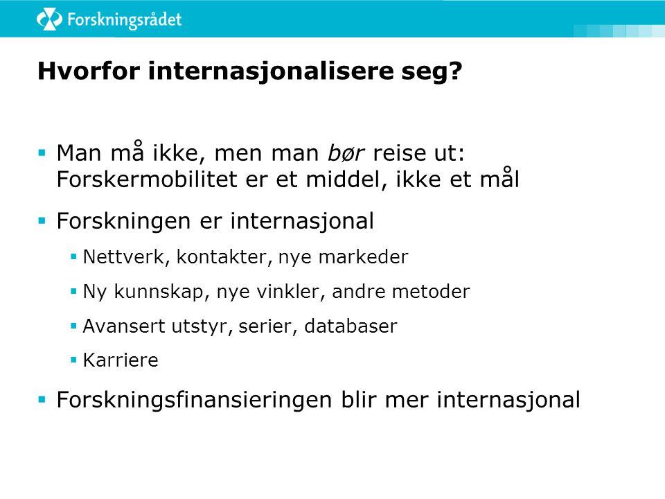 Hvorfor internasjonalisere seg.