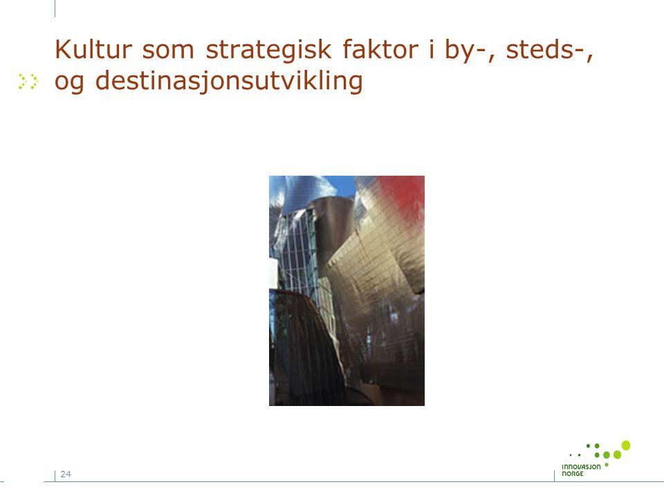 24 Kultur som strategisk faktor i by-, steds-, og destinasjonsutvikling