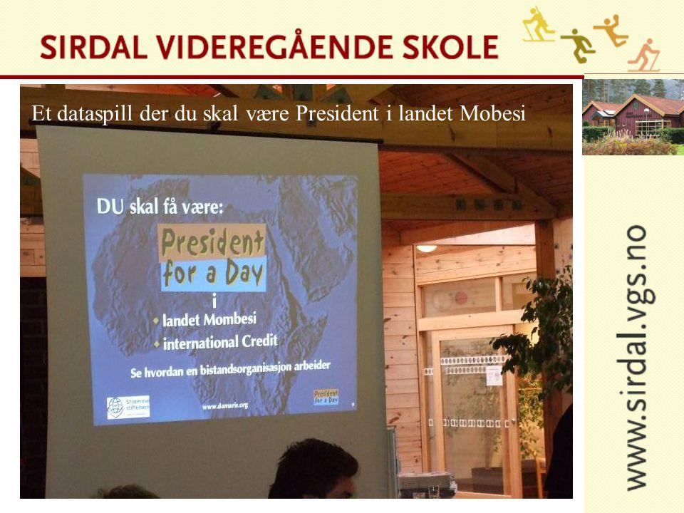 Et dataspill der du skal være President i landet Mobesi