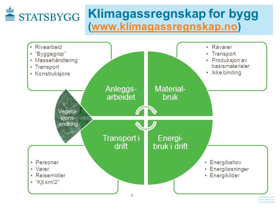 Klimagassregnskap for bygg (www.klimagassregnskap.no)www.klimagassregnskap.no Vegeta- sjons- endring 4