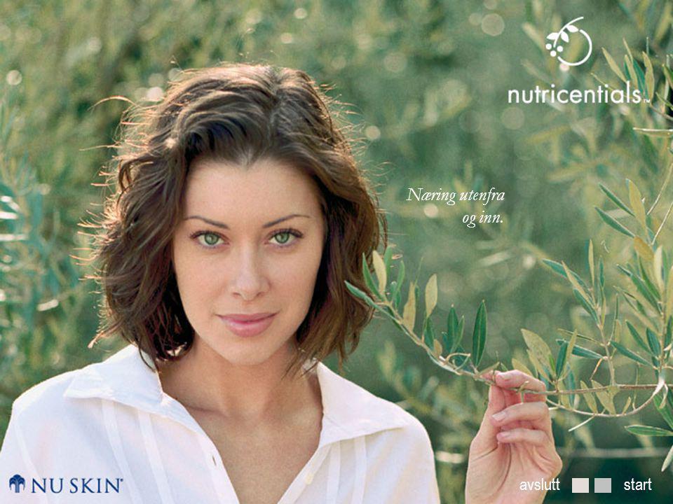 Næring utenfra og inn Hva gjør huden vakker?Daglig hudpleie med nutricentials ™ Vi introduserer nutricentials ™ startside NESTE TILBAKE Tilfør fuktighet med Nutricentials™  For blandingshud til fet hud.