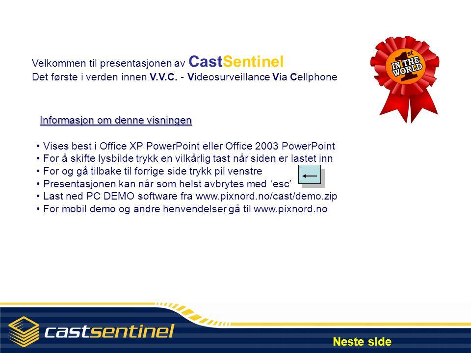 CastSentinel : Videoovervåking via mobiltelefon Neste side