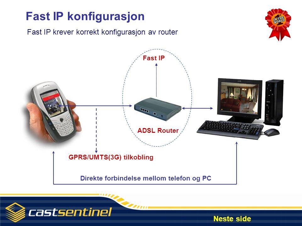 Internet konfigurering og monitorering På en PC med installert JAVA kan du utføre følgende: • Se opp til 4 kamera samtidig i forskjellige moduser • Styre opp til 64 kontrollenheter via relekort • Kjøre speed dome kamera (Motoriserte/PTZ-kamera) • Avspille opptak som er gjort Neste side