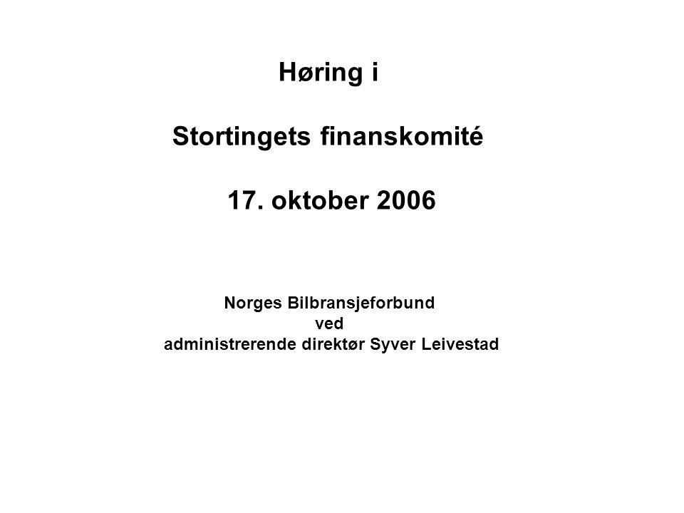 Høring i Stortingets finanskomité 17.