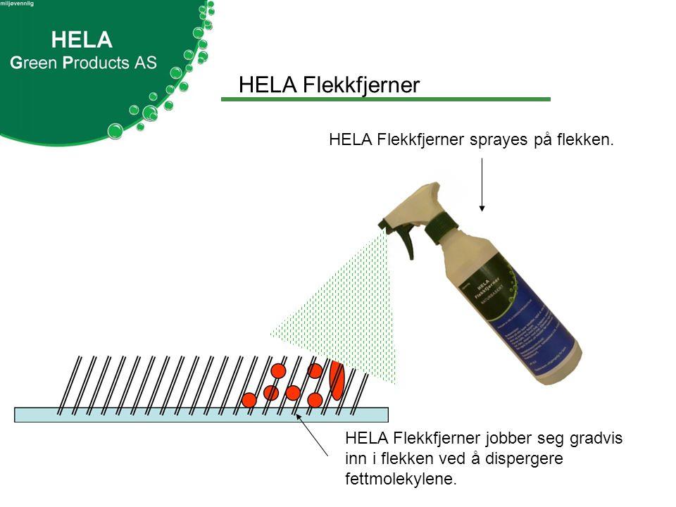 HELA Flekkfjerner HELA Flekkfjerner sprayes på flekken.