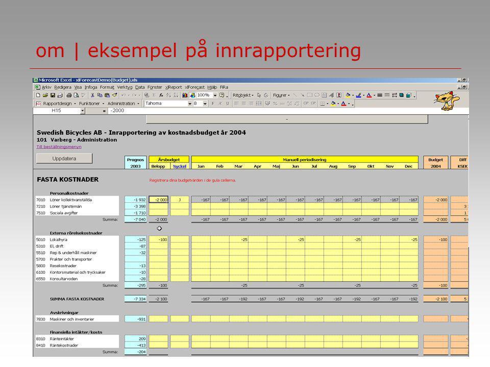 ncg | group om | eksempel på innrapportering