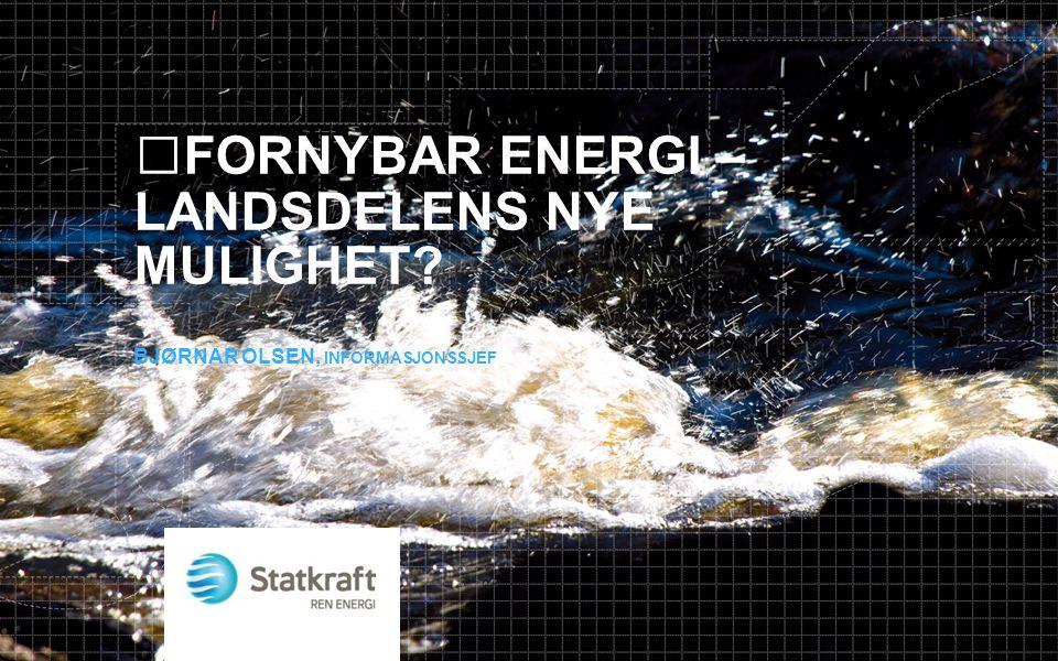 Totalt mrd NOK Mulig andel regionalt basert industri Potensial for regionalt basert industri mrd NOK Olje/gassUtbygging2205 %11 Barentshavet Drift11020 %22 VindkraftUtbygging7030 %21 3000 turbiner Drift3060 %18 Linjebygging1520 %3 VannkraftUtbygging00 %0 Drift2040 %8 SUM 46583 Leverandørindustri i Nordområdene mot 2030, energisegmentet Energi er Nordområdenes strategiske drivkraft.