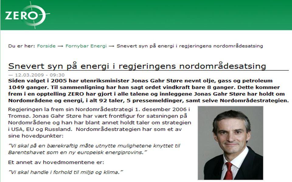 Energisektoren – utvidet perspektiv Energi er Nordområdenes strategiske drivkraft!