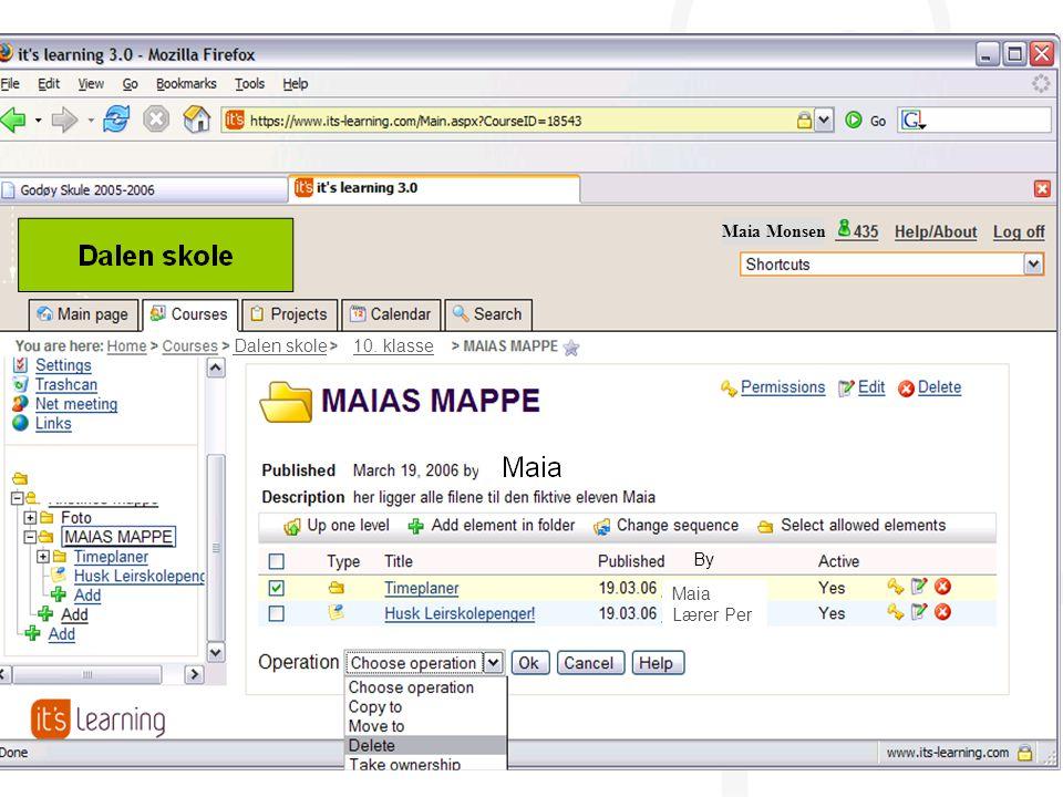 20 Dalen skole 10. klasse Maia Monsen Maia Lærer Per By