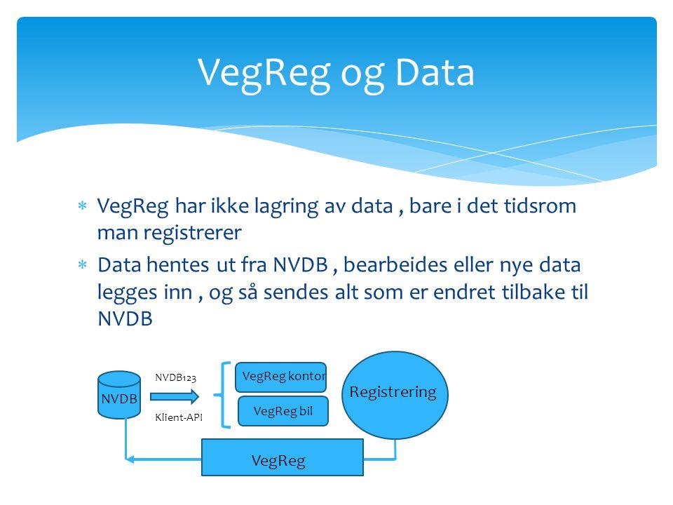 Uttak fra NVDB NVDB123 gjennom VegReg Predefinerte maler Og vegnett.