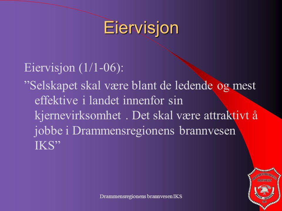 """Eiervisjon Eiervisjon (1/1-06): """"Selskapet skal være blant de ledende og mest effektive i landet innenfor sin kjernevirksomhet. Det skal være attrakti"""