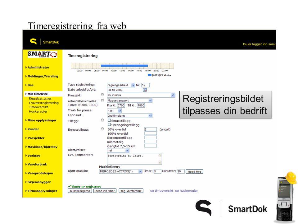 Du kan føre timer på vanlig mobiltelefon Se video: Timeregistrering på mobilTimeregistrering på mobil