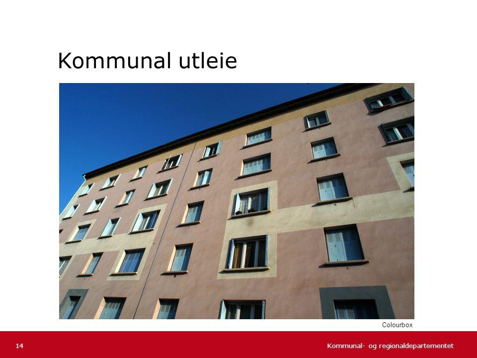 Kommunal- og regionaldepartementet Norsk mal: Tekst uten kulepunkter Kommunal utleie 14 Colourbox