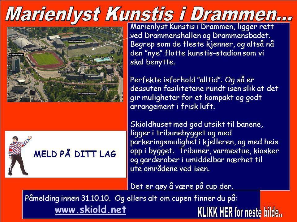 """Marienlyst Kunstis i Drammen, ligger rett ved Drammenshallen og Drammensbadet. Begrep som de fleste kjenner, og altså nå den """"nye"""" flotte kunstis-stad"""
