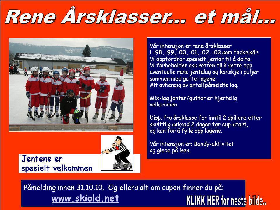 Påmelding gjøres på www.skiold.netwww.skiold.net Påmelding innen 31.10.10 Deltakeravgift pr lag er Kr.