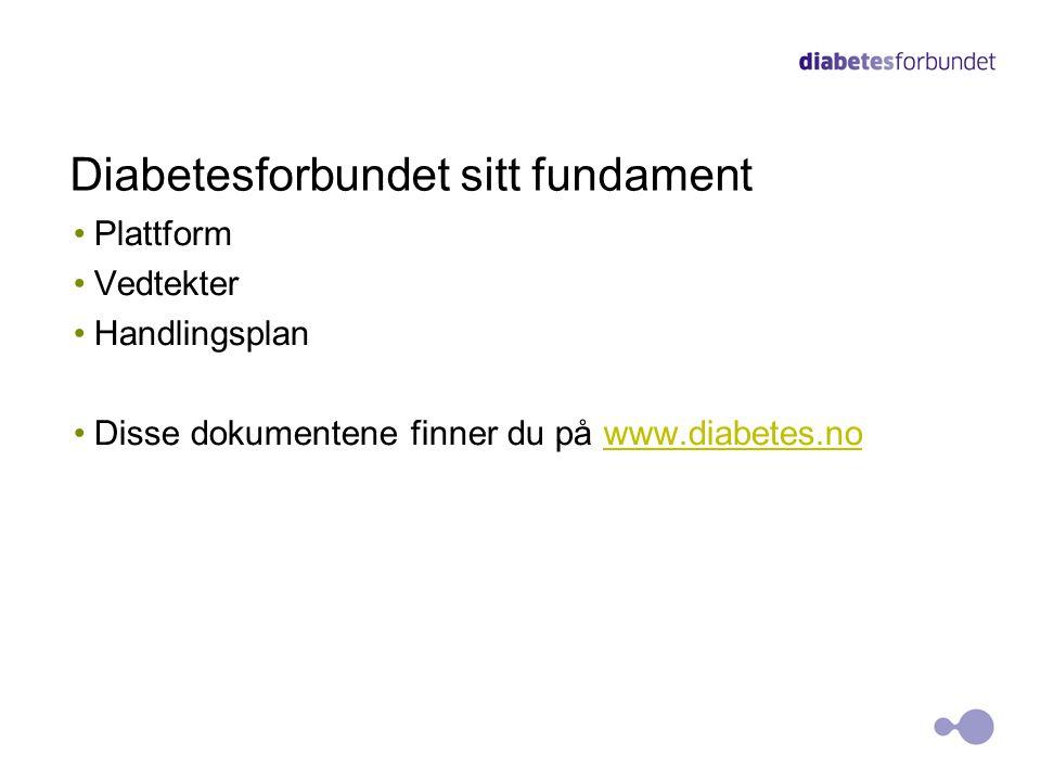 Diabetesforbundet sitt fundament •Plattform •Vedtekter •Handlingsplan •Disse dokumentene finner du på www.diabetes.nowww.diabetes.no 8
