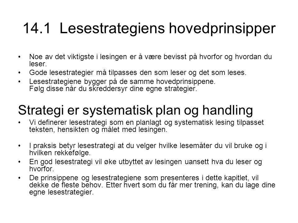 Lesestrategiens tre hovedtrinn 1 Forberedelse til lesingen •Hvorfor leser du dette.