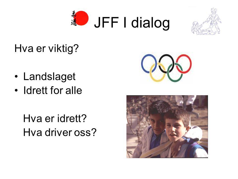 Hva er viktig? •Landslaget •Idrett for alle Hva er idrett? Hva driver oss? JFF I dialog
