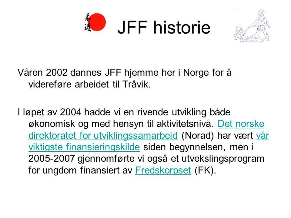 Våren 2002 dannes JFF hjemme her i Norge for å videreføre arbeidet til Tråvik.