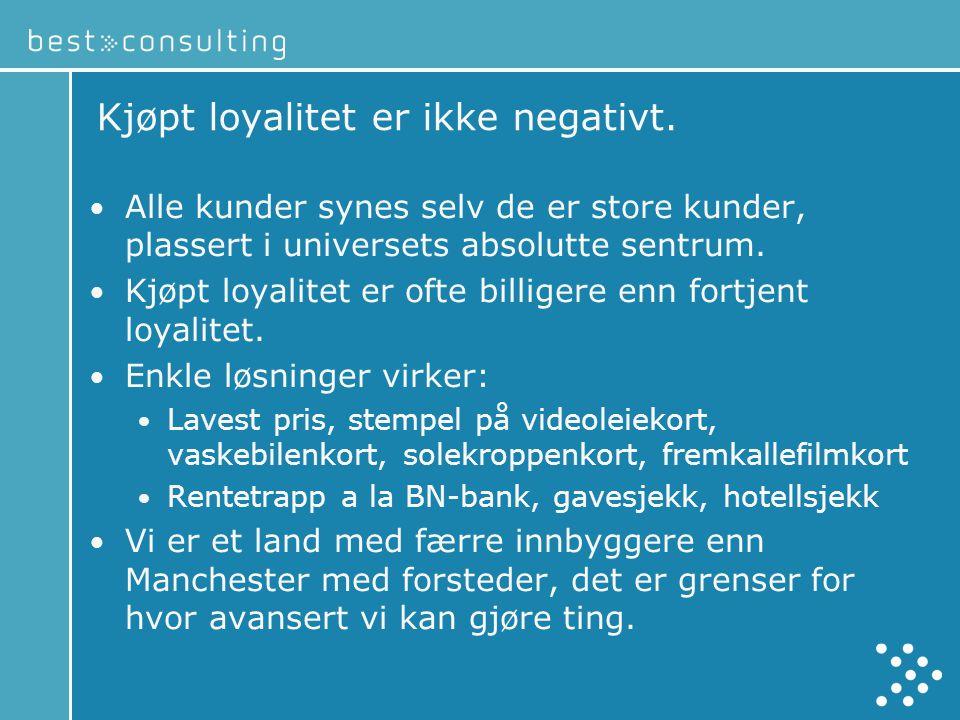 Kjøpt loyalitet er ikke negativt.