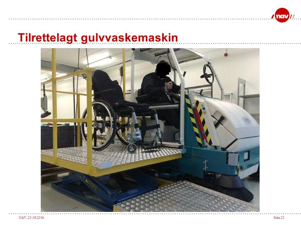 NAV, 23.06.2014Side 23 Tilrettelagt gulvvaskemaskin