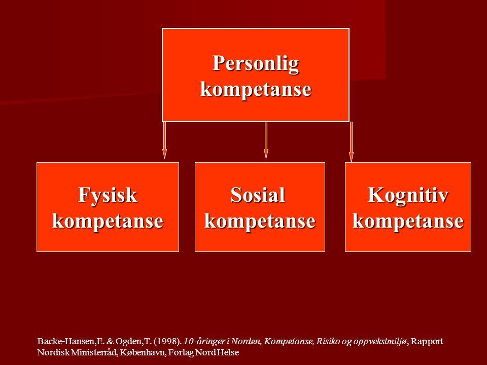 Personligkompetanse FysiskkompetanseSosialkompetanseKognitivkompetanse Backe-Hansen,E.