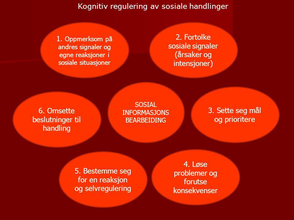 1.Oppmerksom på andres signaler og egne reaksjoner i sosiale situasjoner 3.