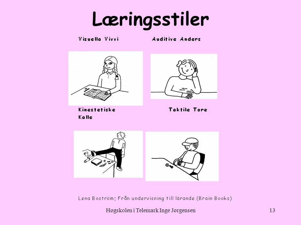 Høgskolen i Telemark Inge Jørgensen13 Læringsstiler