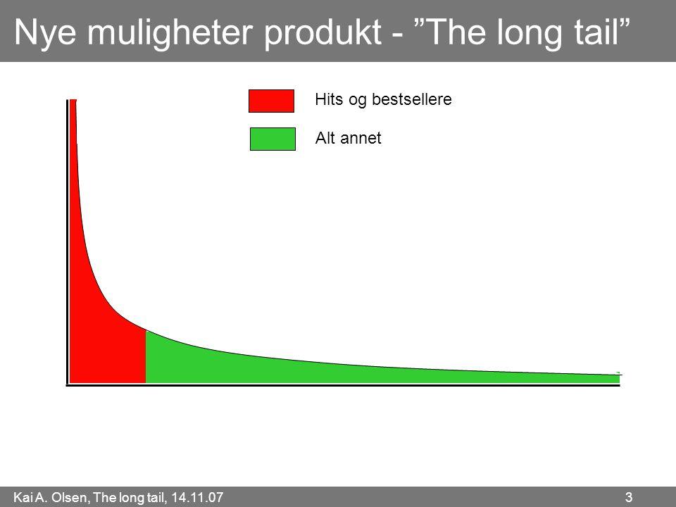 """Kai A. Olsen, The long tail, 14.11.07 3 Nye muligheter produkt - """"The long tail"""" Hits og bestsellere Alt annet"""