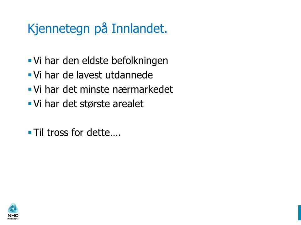 Kjennetegn på Innlandet.