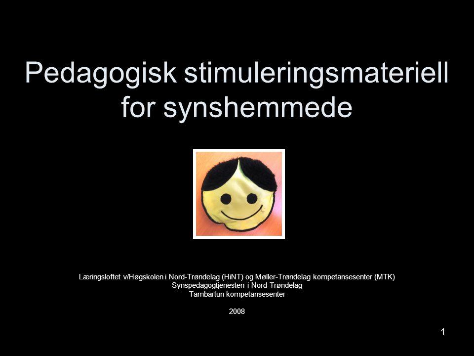 1 Pedagogisk stimuleringsmateriell for synshemmede Læringsloftet v/Høgskolen i Nord-Trøndelag (HiNT) og Møller-Trøndelag kompetansesenter (MTK) Synspe