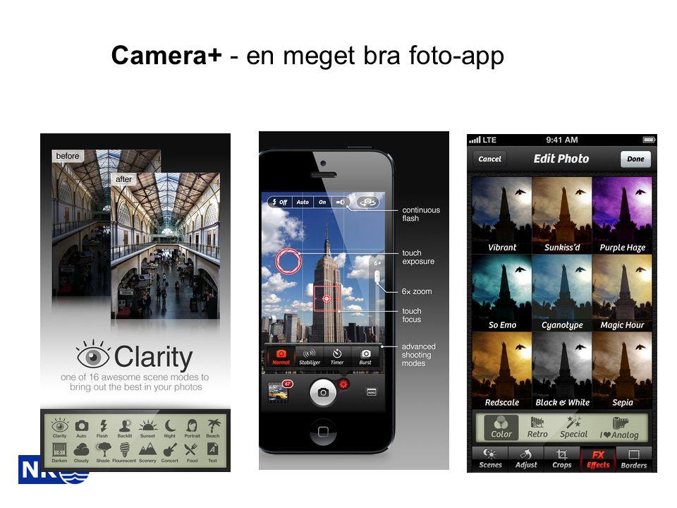 Camera+ - en meget bra foto-app