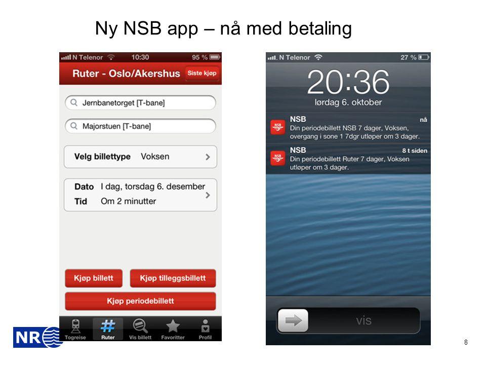 8 Ny NSB app – nå med betaling