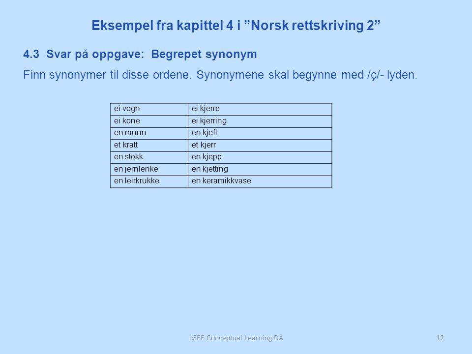 Synonym norsk