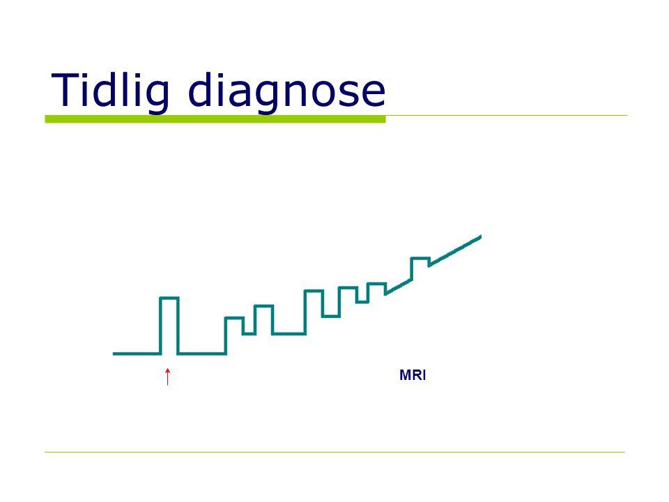 10 Tidlig diagnose MRI MRI-Gd+ CIS  Klinisk isolert syndrom CDMS  Klinisk sikker MS