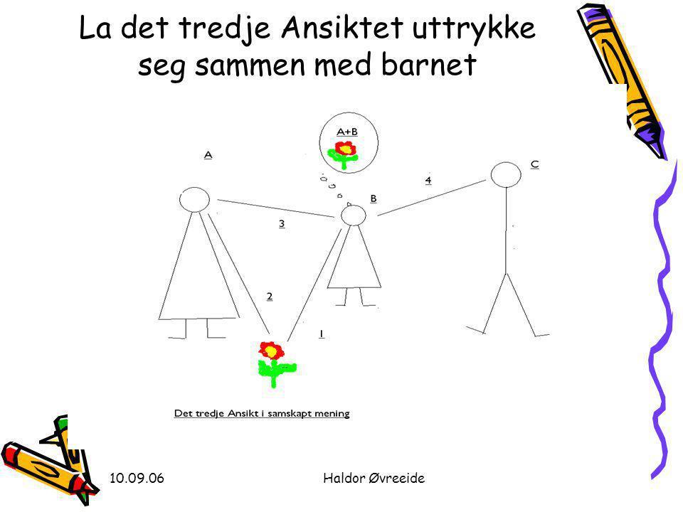 10.09.06Haldor Øvreeide La det tredje Ansiktet uttrykke seg sammen med barnet
