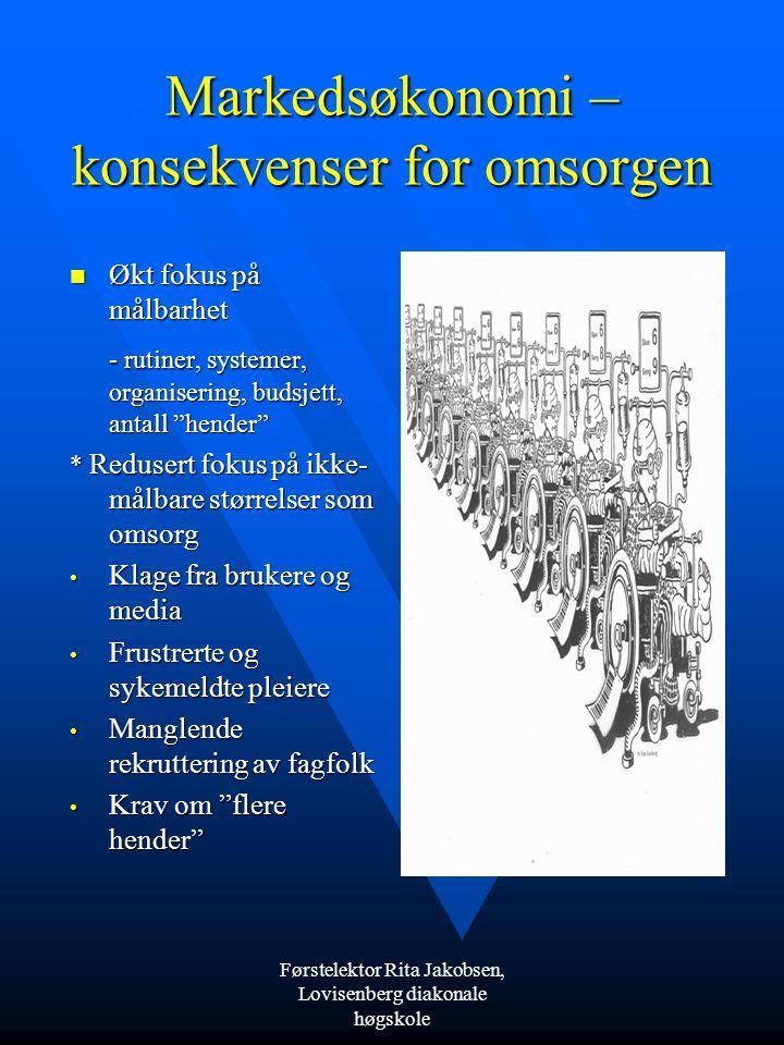 Førstelektor Rita Jakobsen, Lovisenberg diakonale høgskole Forandret eller annerledes?