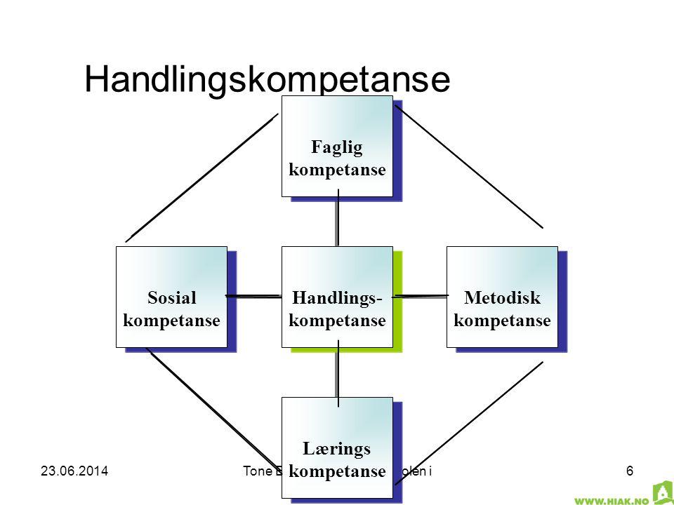 23.06.2014Tone B. Rosenberg, Høgskolen i Akershus 6 Handlingskompetanse