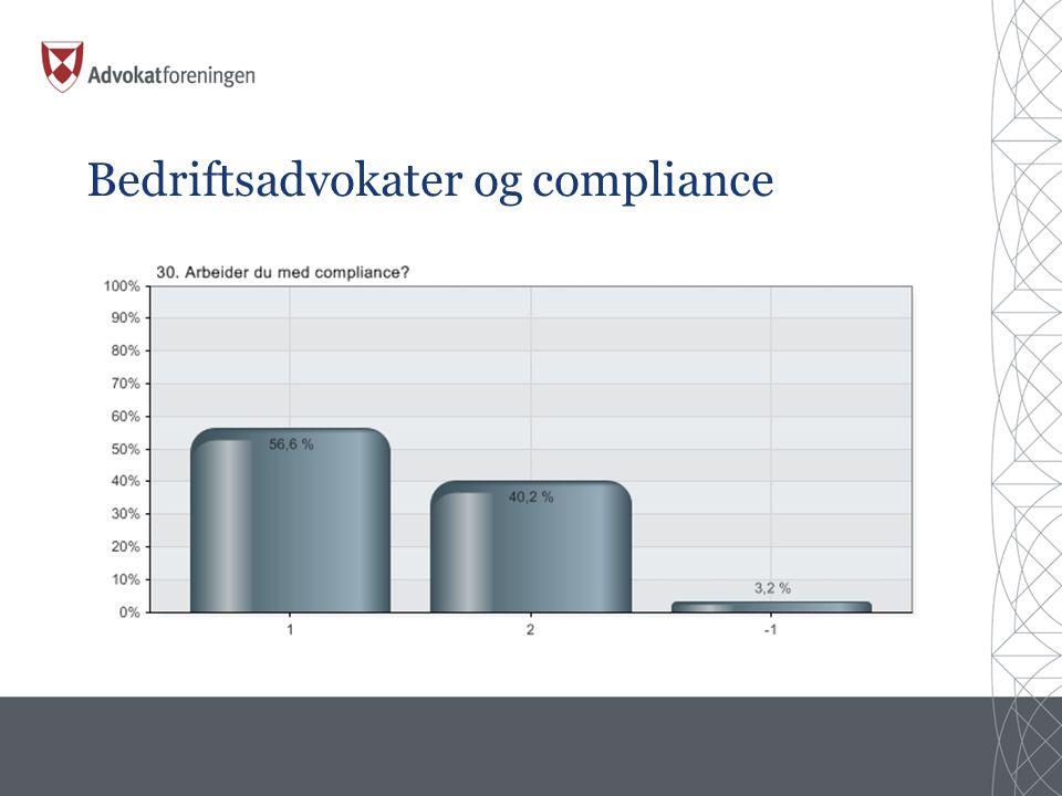 Bedriftsadvokater og compliance