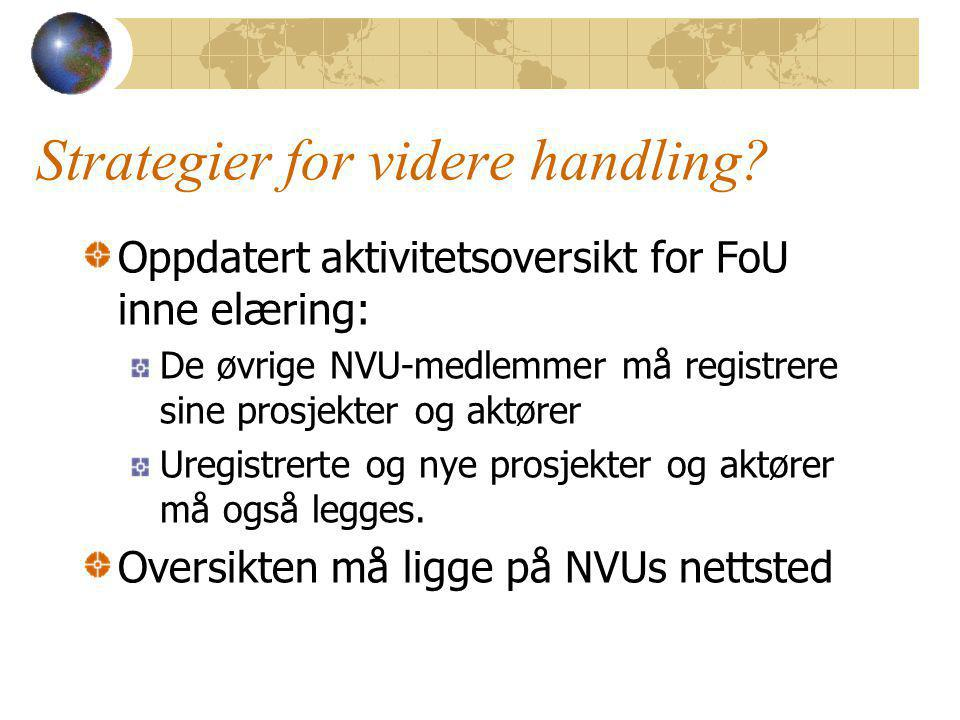 Strategier for videre handling.