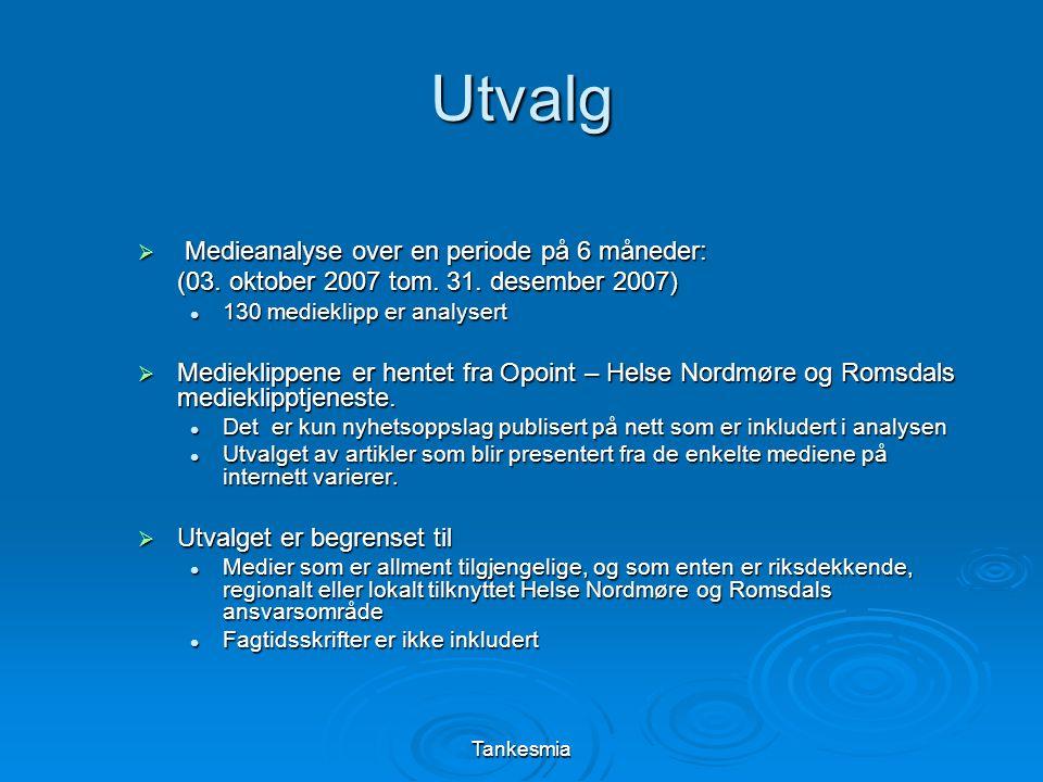 Tankesmia Omdømme til Helse Nordmøre og Romsdal HF Helse NM & R har en kraftig tilbakegang i saker som styrker omdømmet.