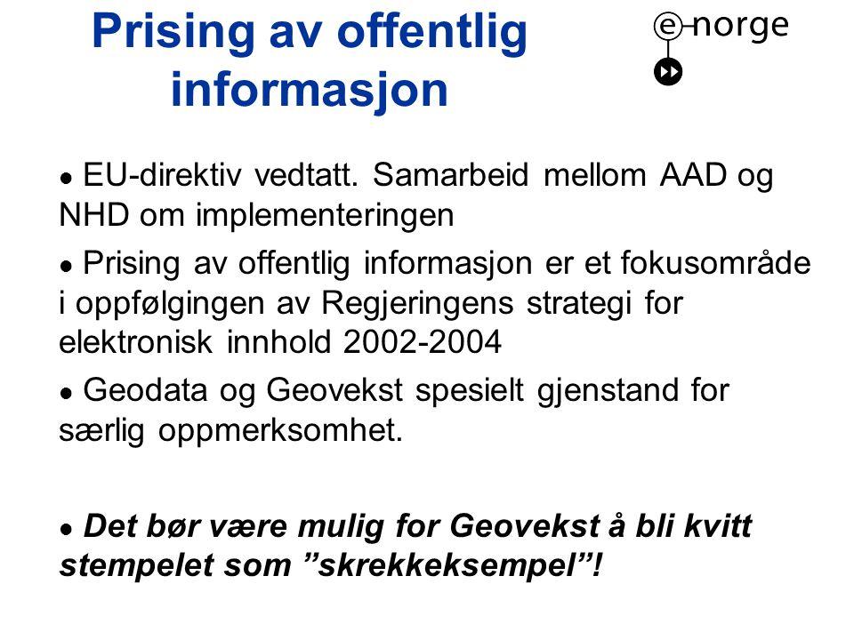 Prising av offentlig informasjon  EU-direktiv vedtatt.
