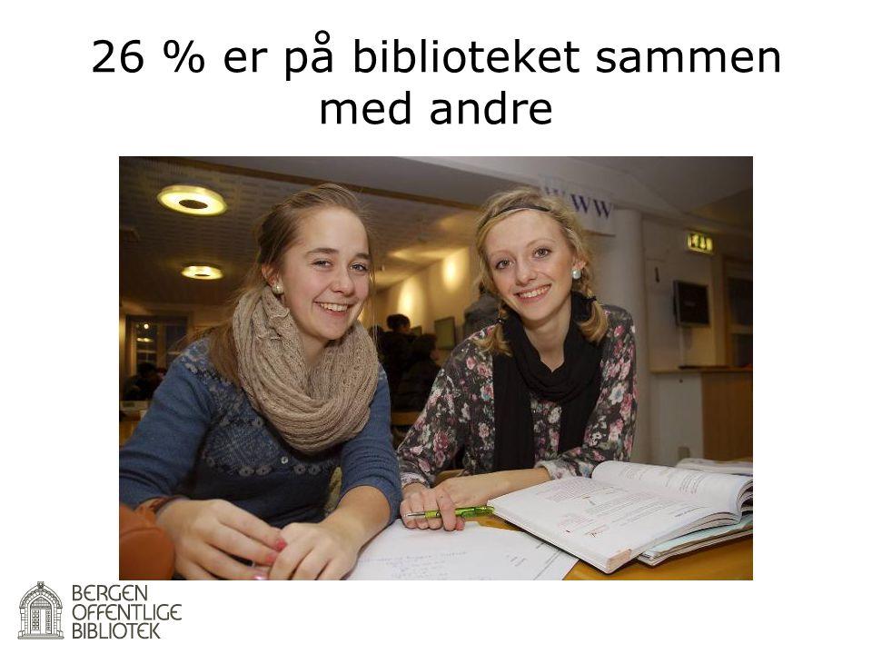 26 % er på biblioteket sammen med andre